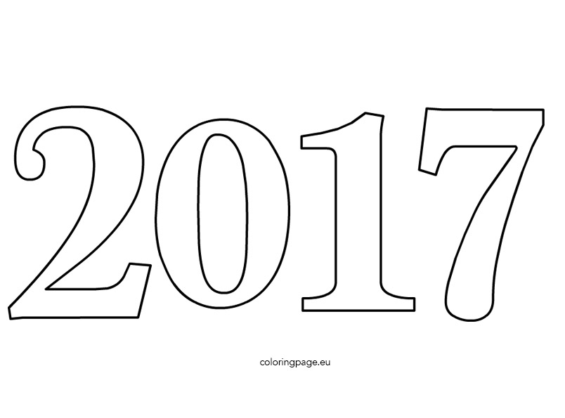 Hy New Year 2017 Coloring Pages