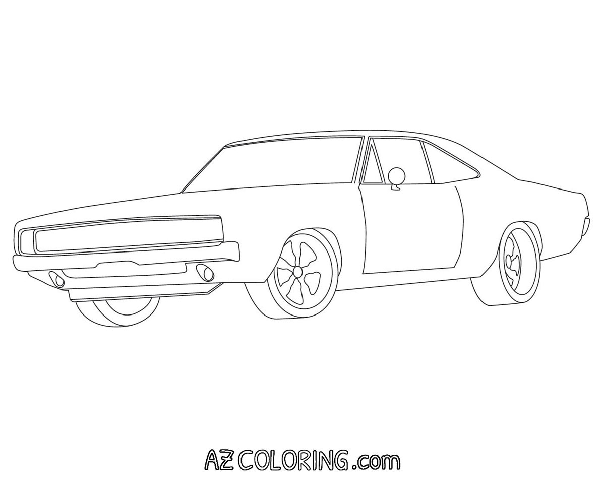 dodge charger coloring pages - photo#12