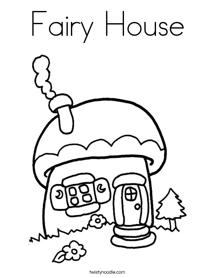 Coloring Pages Fairy House | Cooloring.com