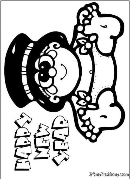 happy new year coloring pages - photo#20