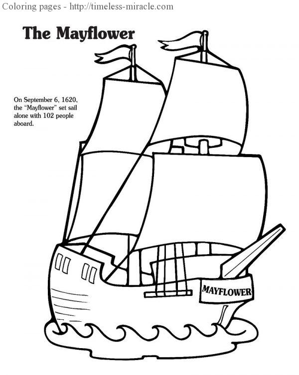 the mayflower coloring pages - photo#9