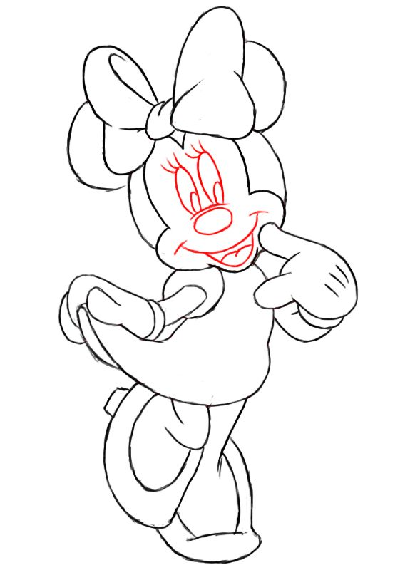 Minnie Mouse Outline Coloring Home