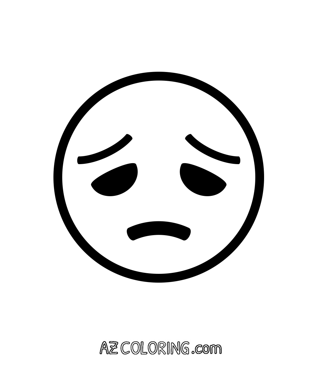 Disappointed Sad Face Emoji Coloring Page Coloring Home