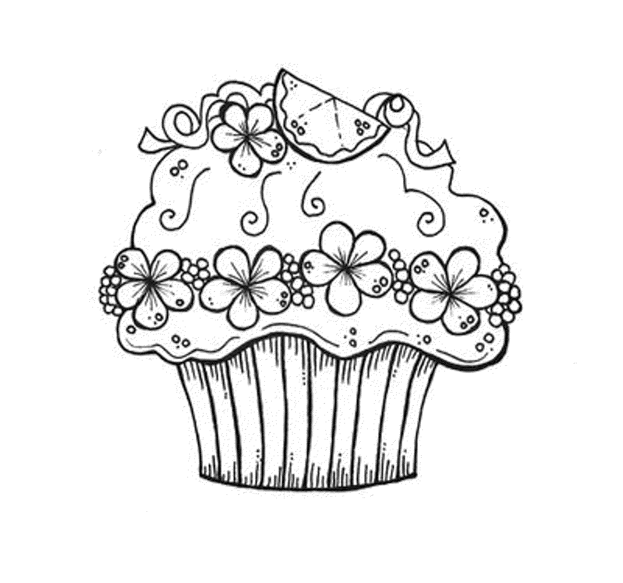 Cupcake Coloring Pages Free Coloring