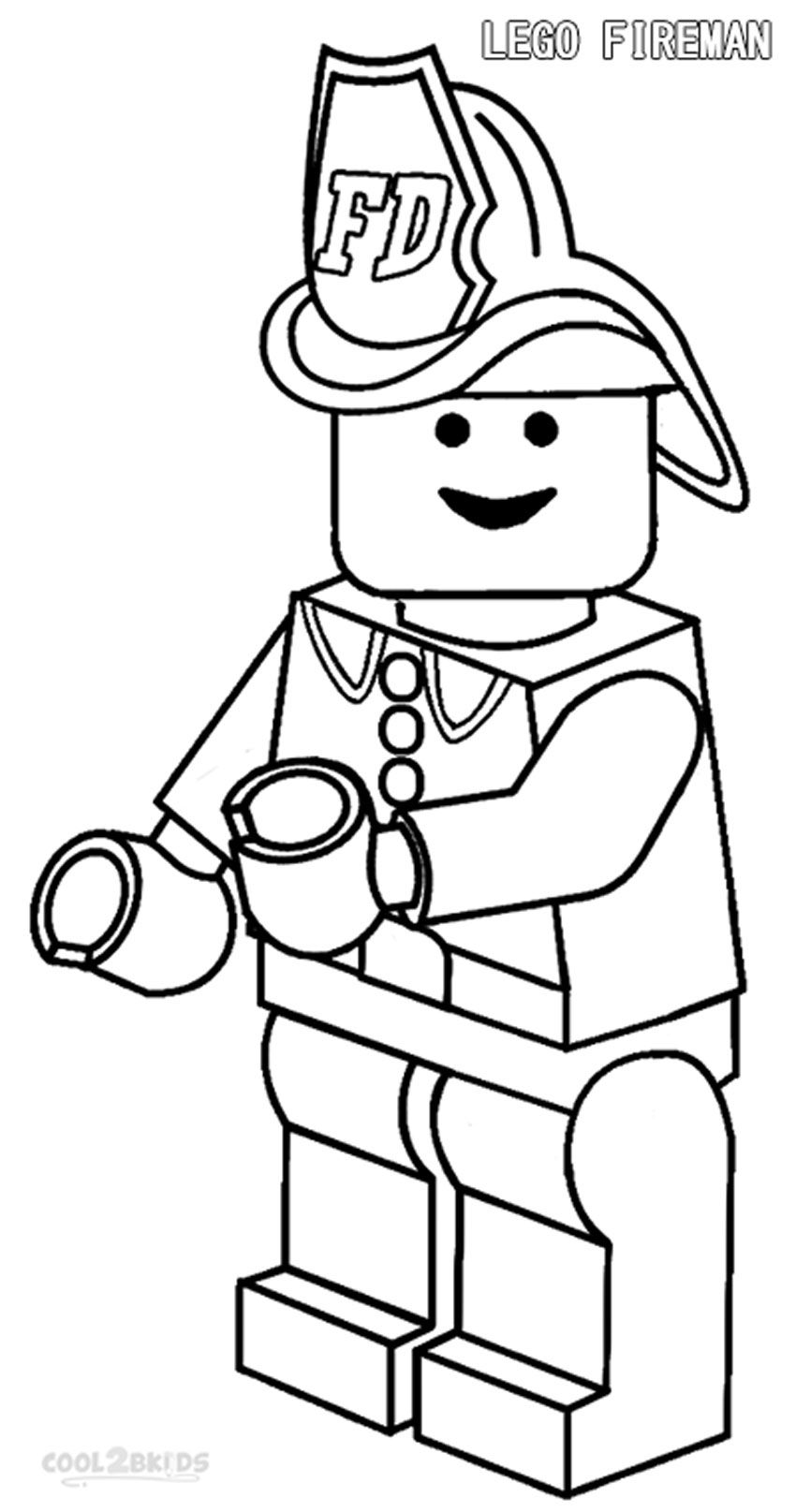 fireman coloring pages for kids printable az coloring pages Firefighter Coloring Pages for Preschool  Coloring Firefighter