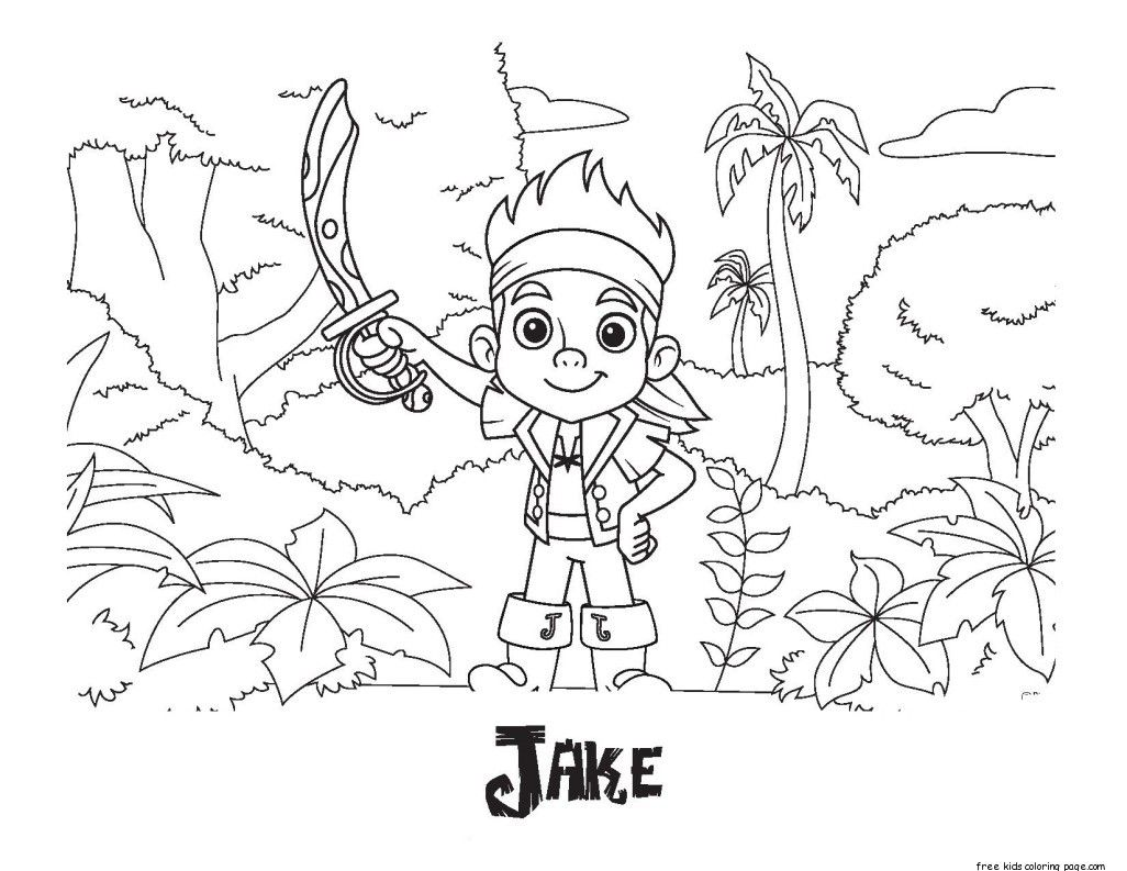 Coloring Pages For Jake And The Neverland Pirates : Coloring pages for captain jake and the neverland pirates