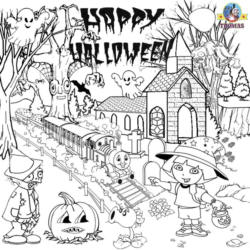 Fallhalloween Coloring Pages