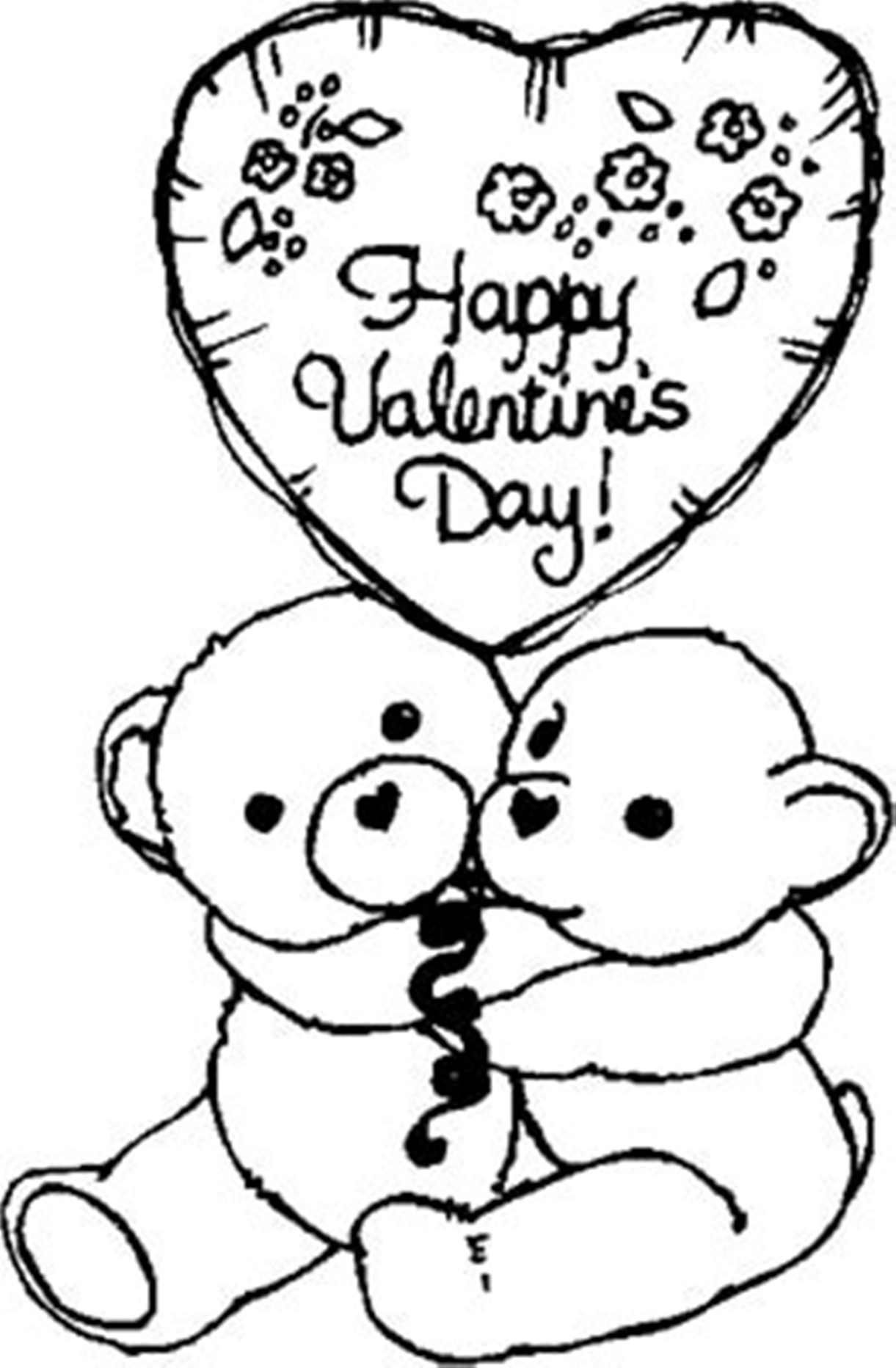 valentine coloring pages images | Printable Happy Valentines Coloring Pages - Coloring Home