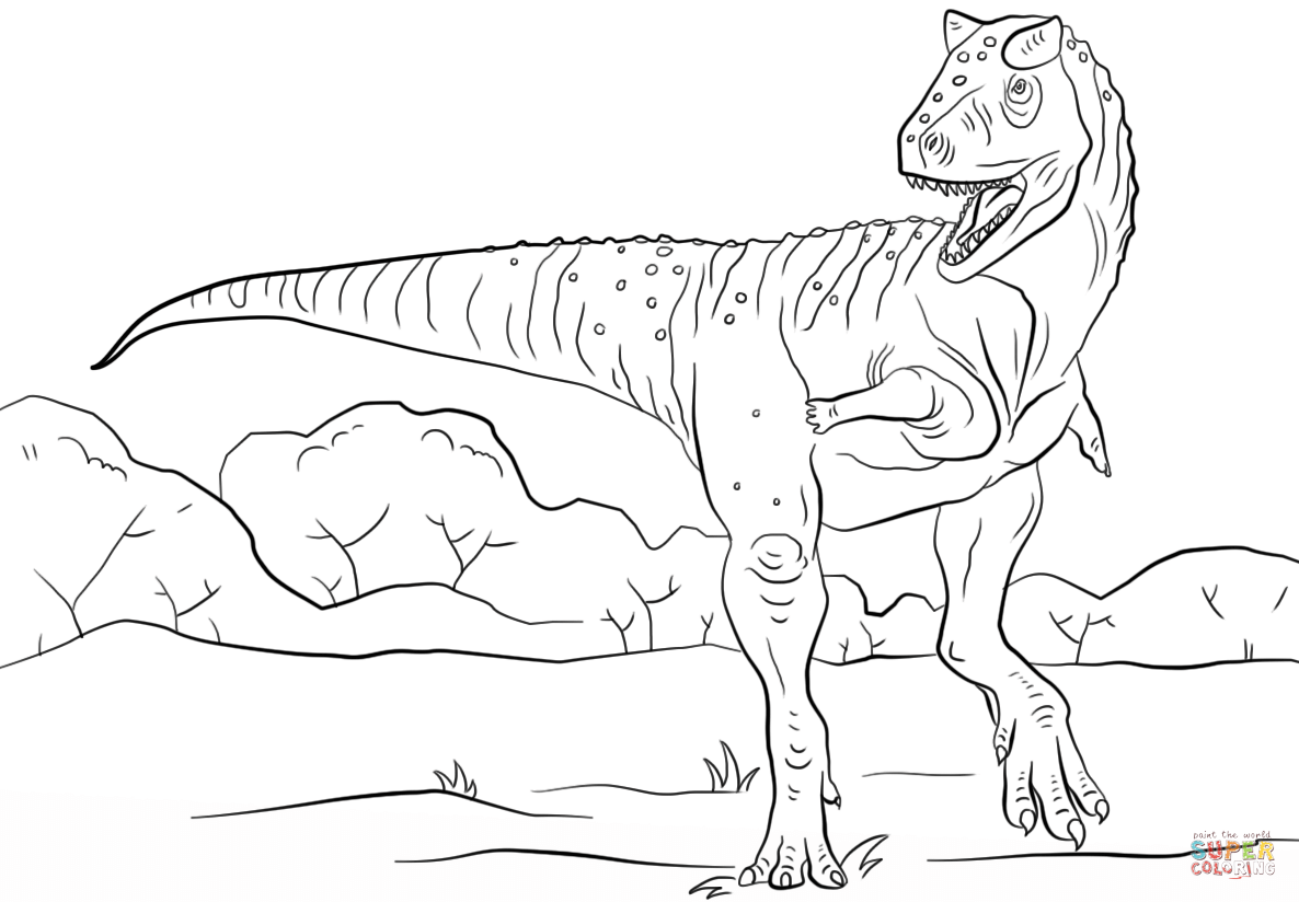 Carnotaurus Coloring Pages Coloring