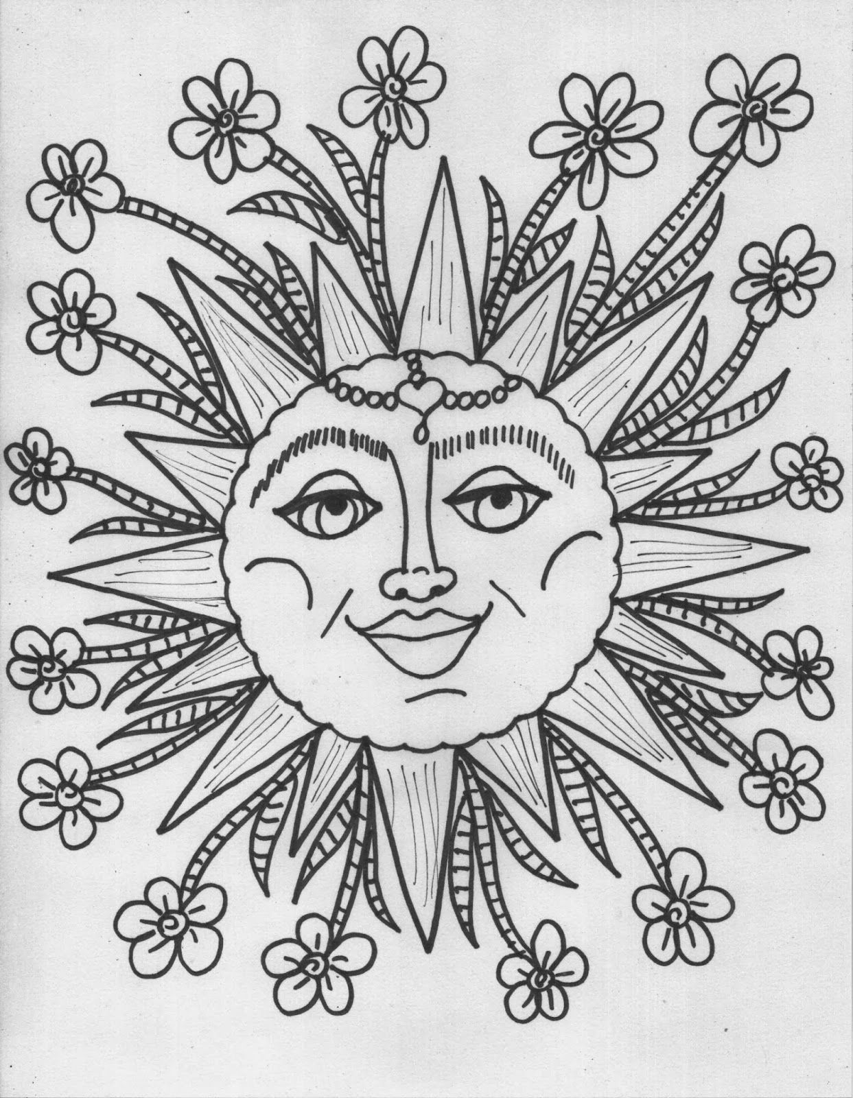 It's just a graphic of Delicate Coloring Pages Hippie