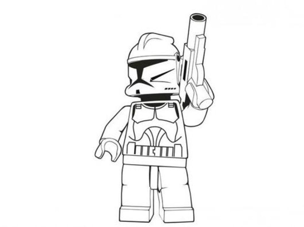 Simple Way To Color Lego Star Wars Coloring Pages