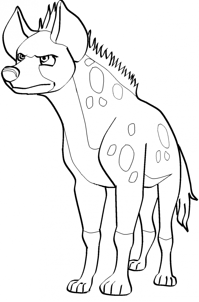 Picture Of A Hyena Coloring Pages | Deliyazar.com