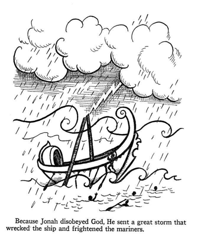 bible coloring pages jonah - photo#11