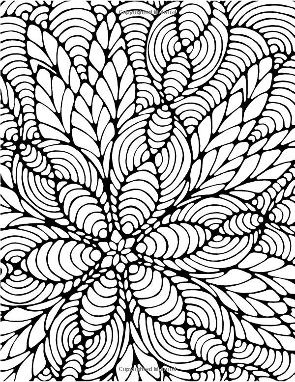 Awesome Coloring Pages Difficult Abstract Pictures Coloring Page