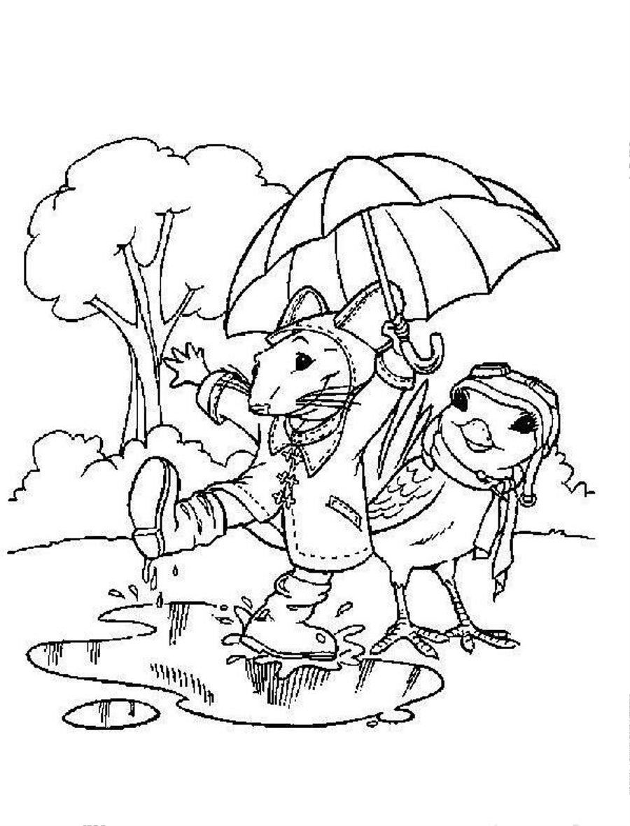Rainy Day Coloring Pages Free - Coloring Home