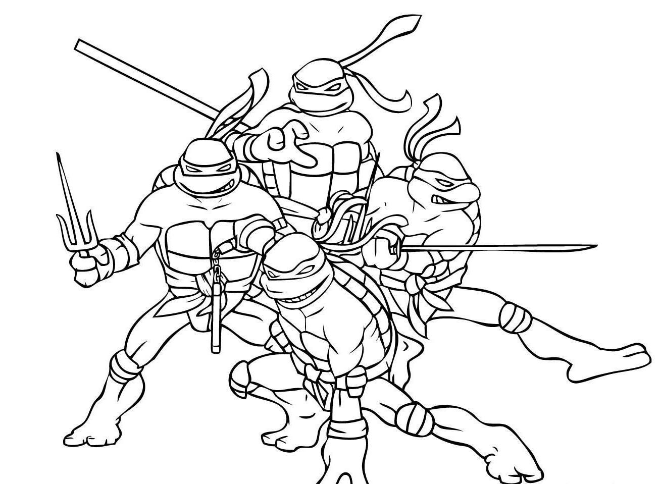 Ninja turtles printable coloring pages for kids and for for Ninja coloring pages for adults