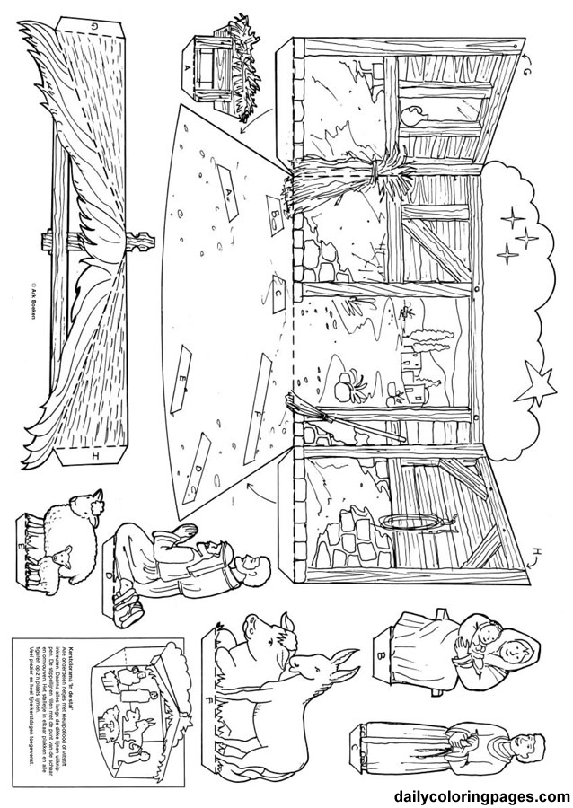 best photos of christmas nativity scene coloring page printable coloring home