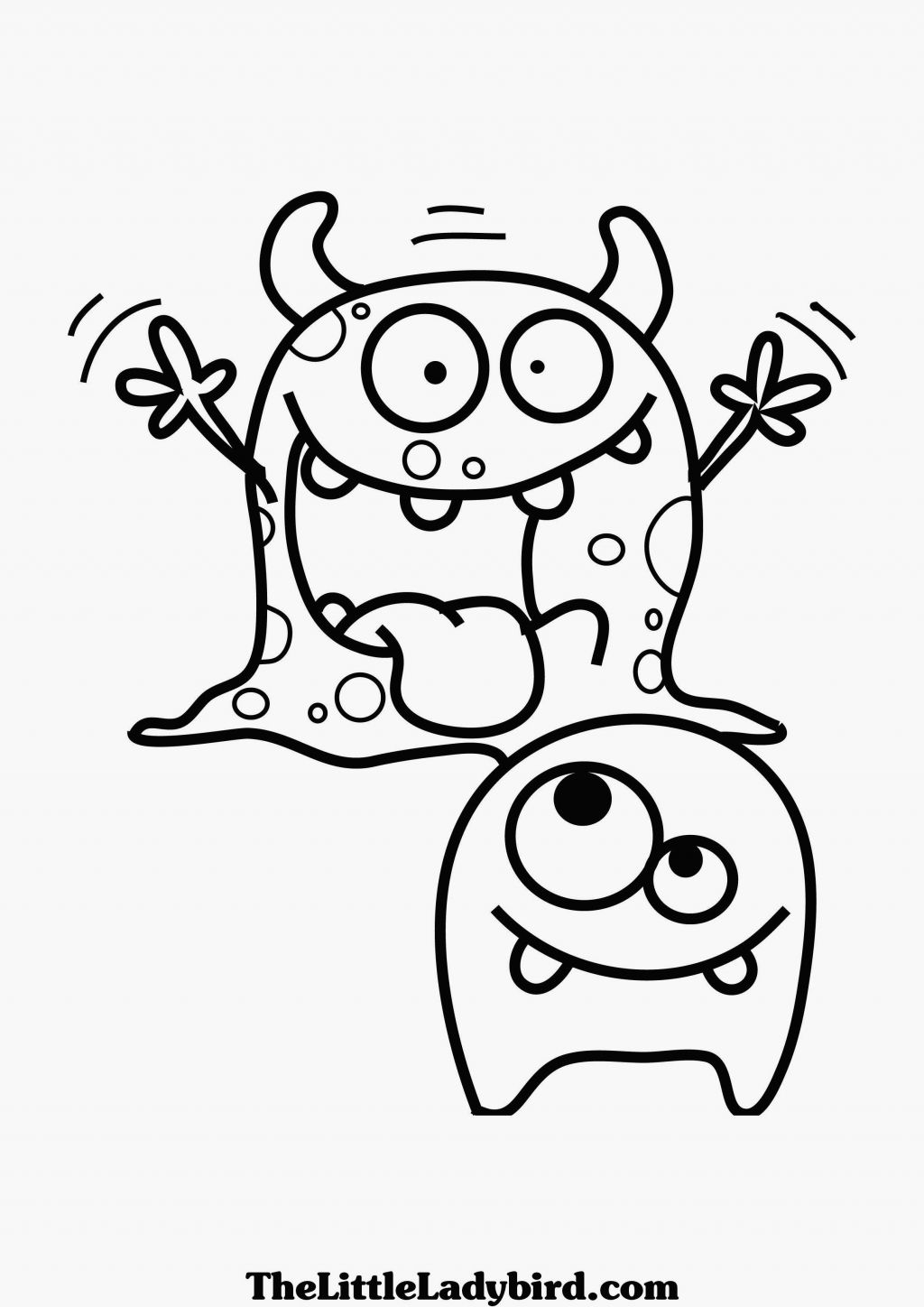 Birthday Monster Coloring Pages - Coloring Home