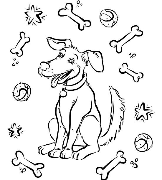 Free Dog Coloring Page | Parents