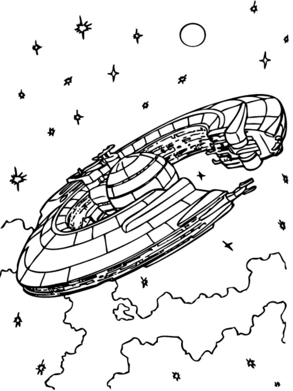 X Wing Starfighter Coloring Page - Free Printable Coloring Pages for Kids
