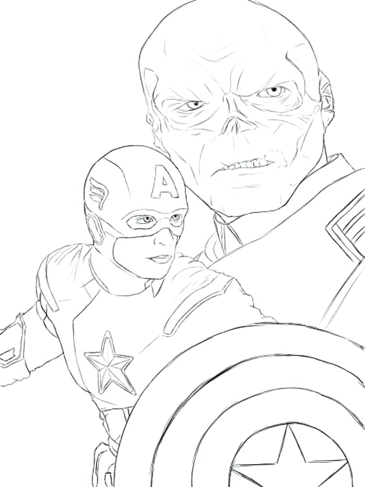 Coloring Page Red Skull Pages - behindthegown.com