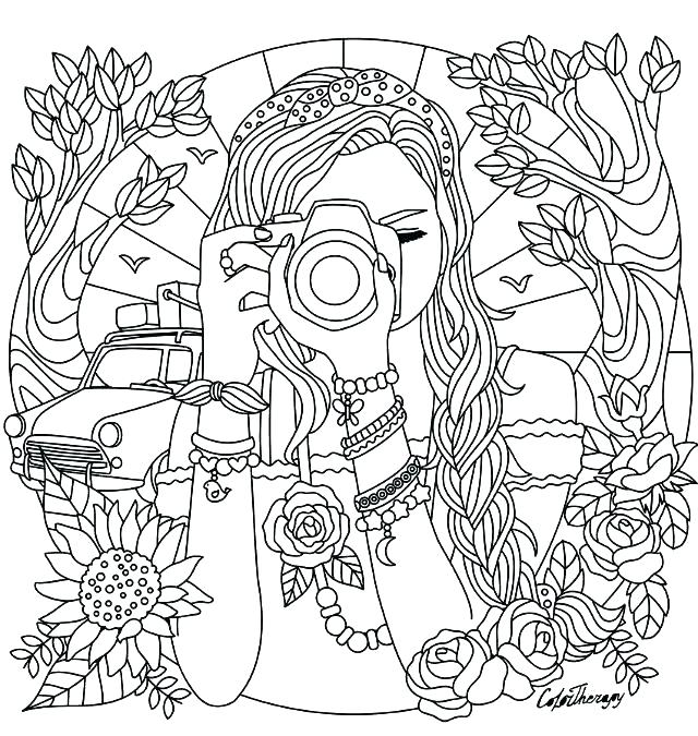 Coloring And Drawing: Coloring Sheets For Girls Hard - Coloring Home