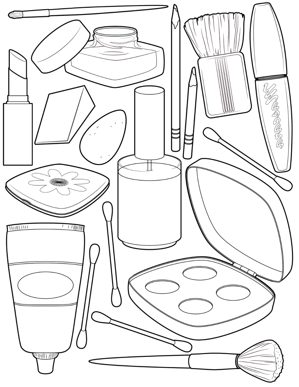 Makeup Coloring Pages for Girls in 2020 | Cute coloring pages, Coloring  pages, Coloring pages for girls