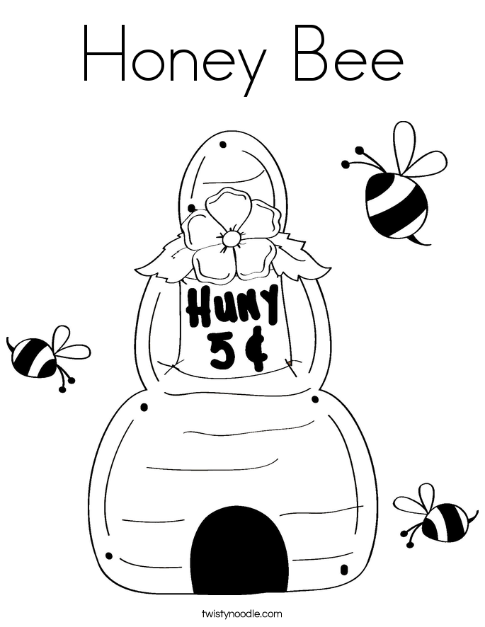 honey bee coloring pages - photo #27
