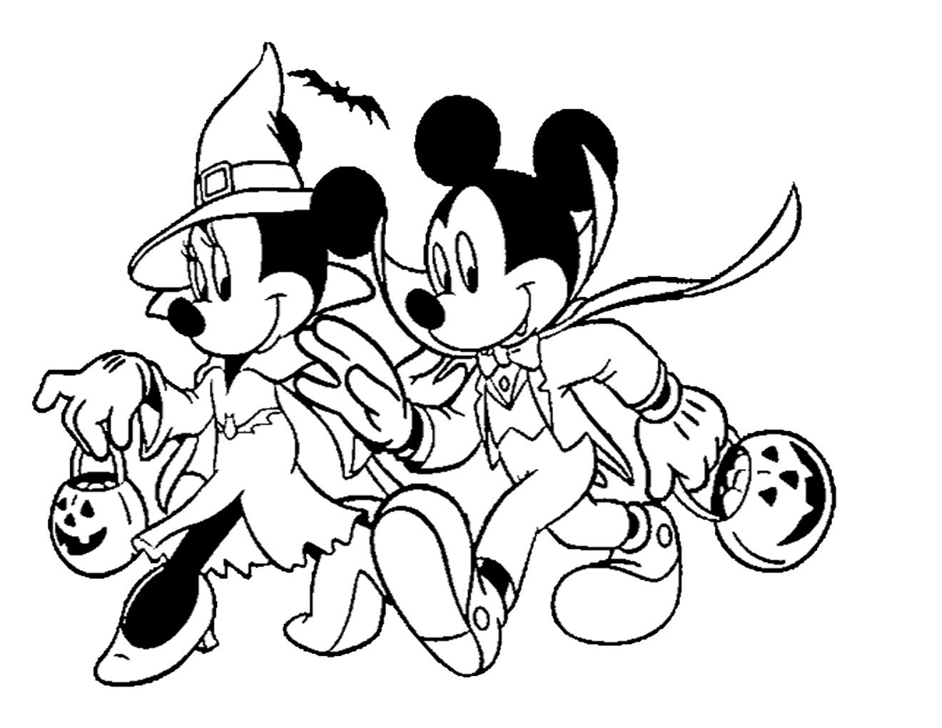 Print Halloween Coloring Pages Disney Or Download