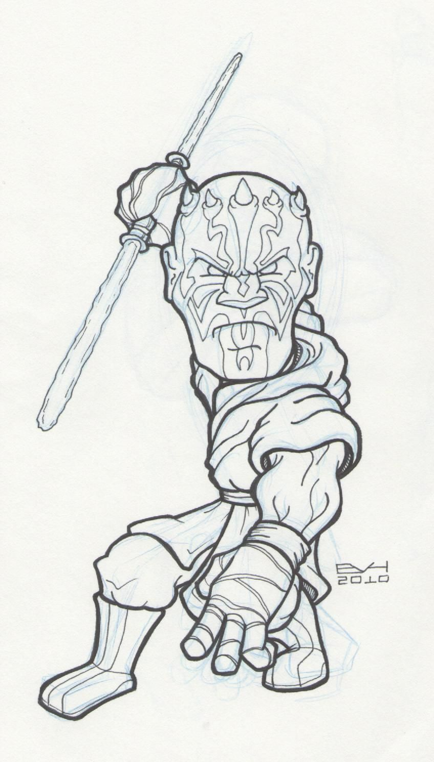 Star Wars Coloring Pages Darth Maul - HiColoringPages ...