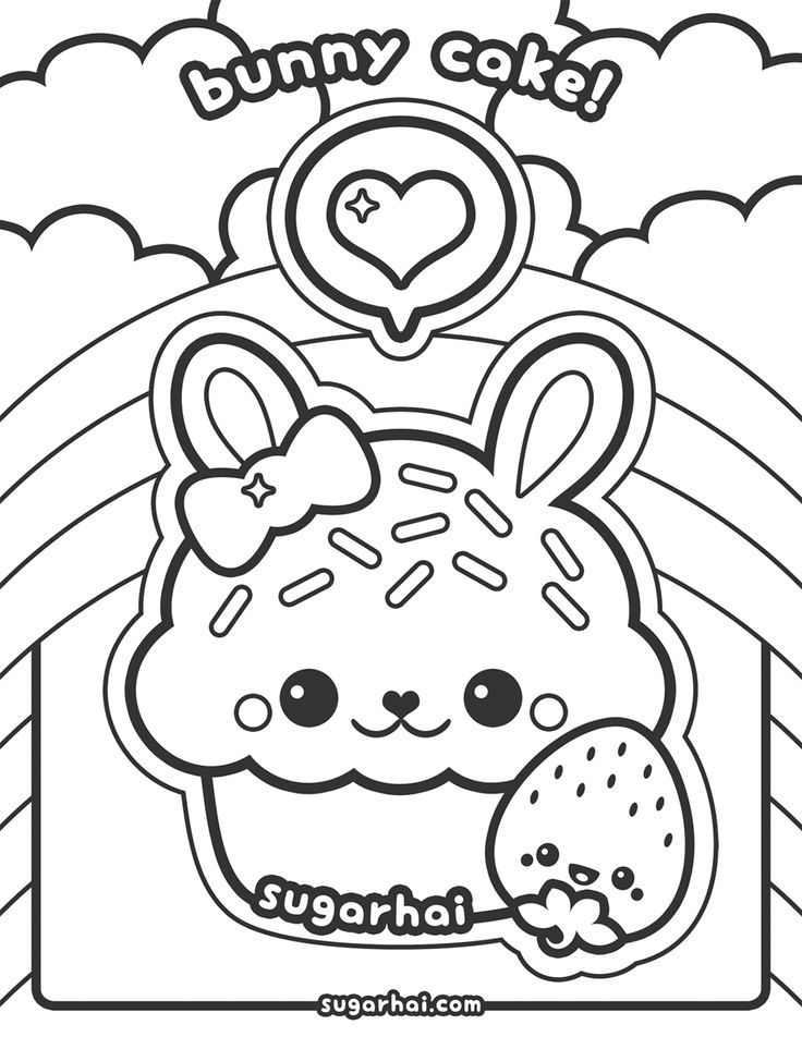 coloring pages wine food animals people | Cute Kawaii Food Coloring Pages - Coloring Home