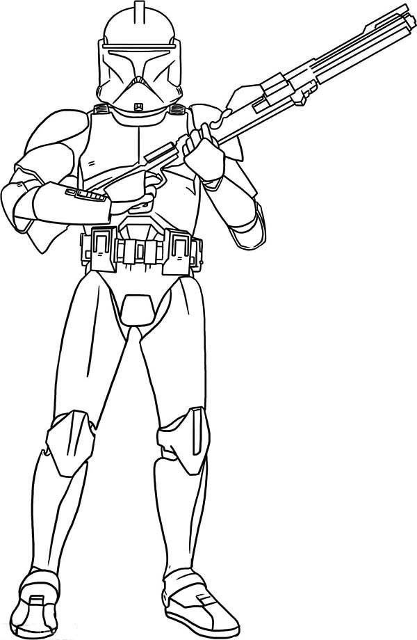 Star Wars The Clone Wars Clone Trooper Coloring Pages - Coloring