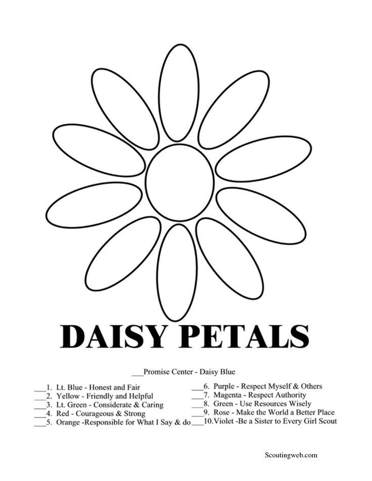 Daisy Girl Scout Coloring Pages Free | Free Printable Coloring ...