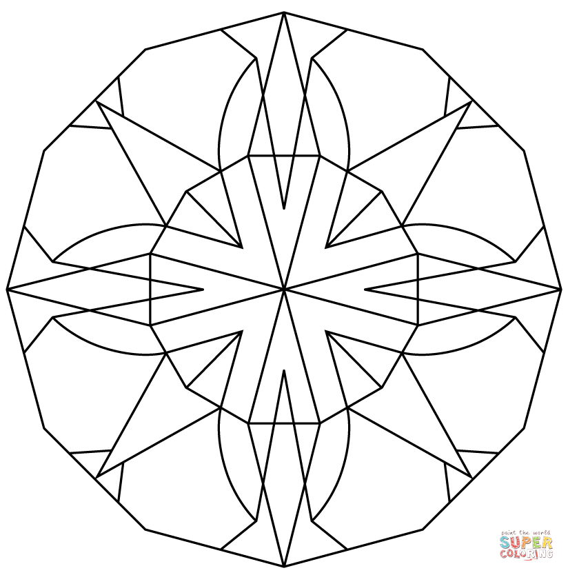 Kaleidoscope Coloring Page Coloring Home Kaleidoscope Coloring Pages
