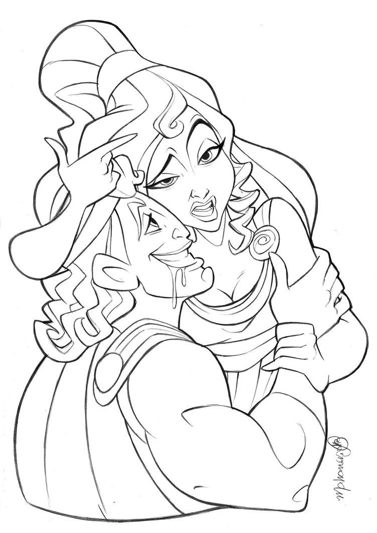 Meg From Hercules Coloring Pages Coloring Page Hercules Coloring