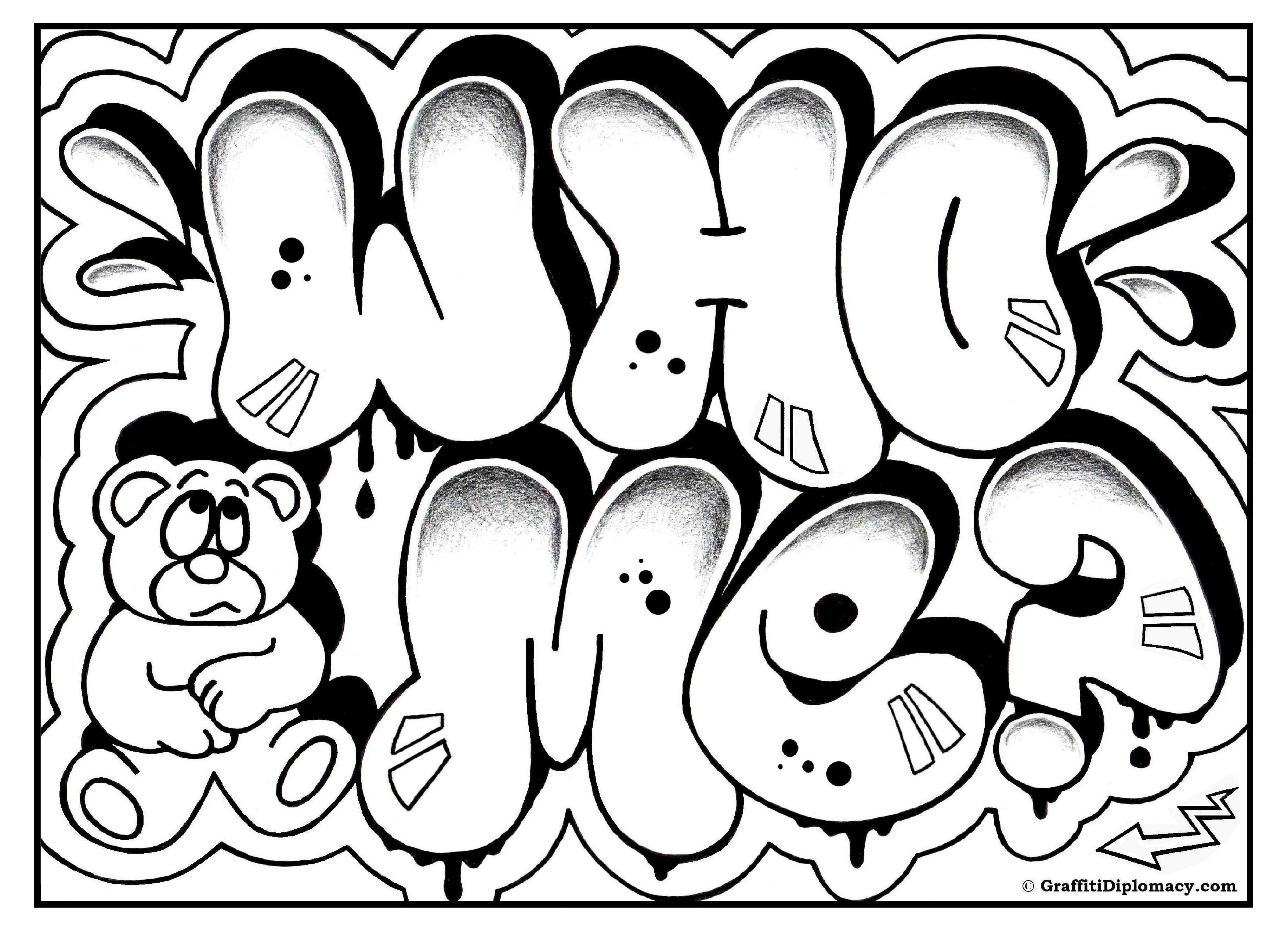 Cool Graffiti Coloring Pages - Coloring Home