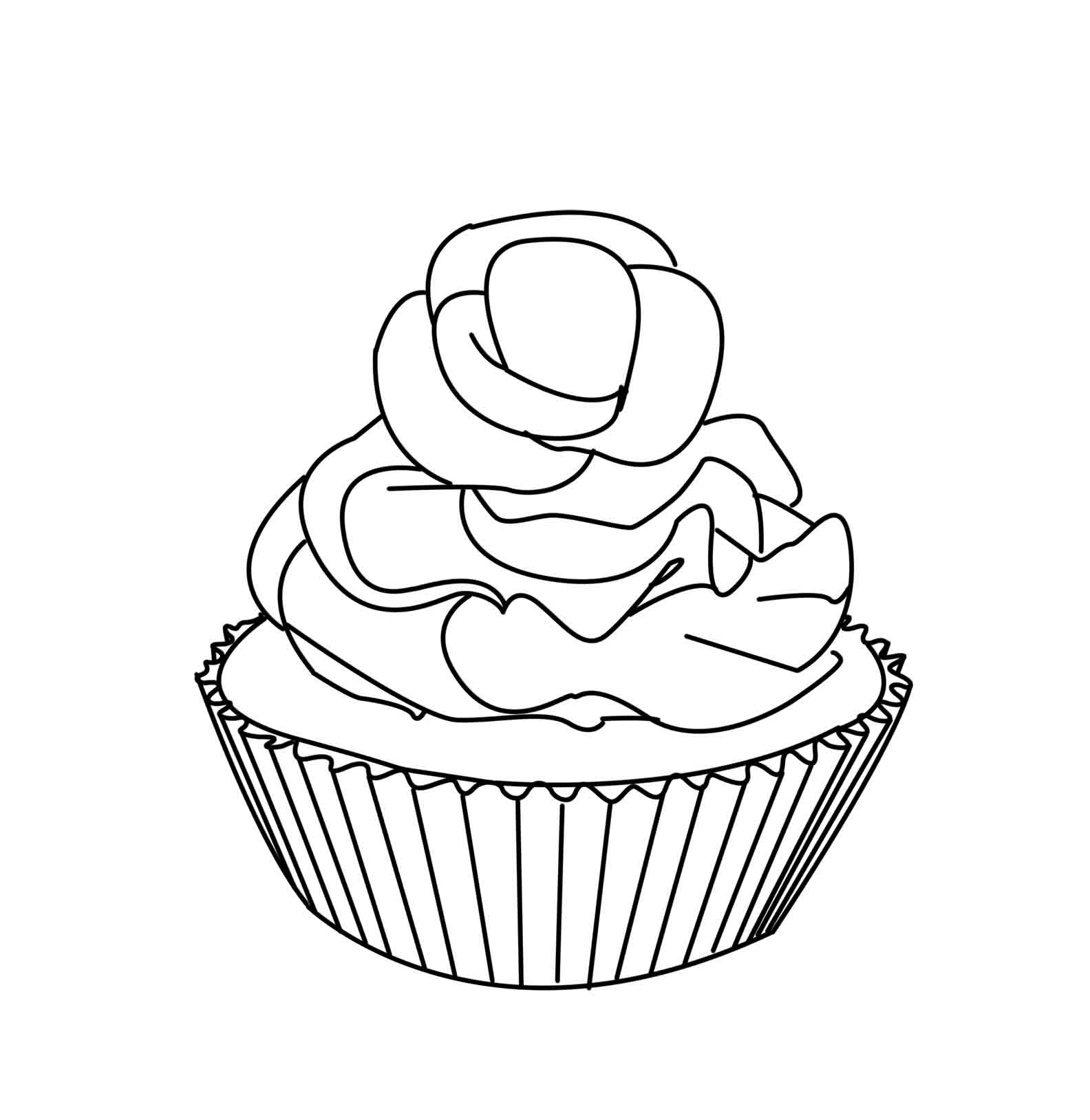leaf coloring pages images cupcake - photo#14