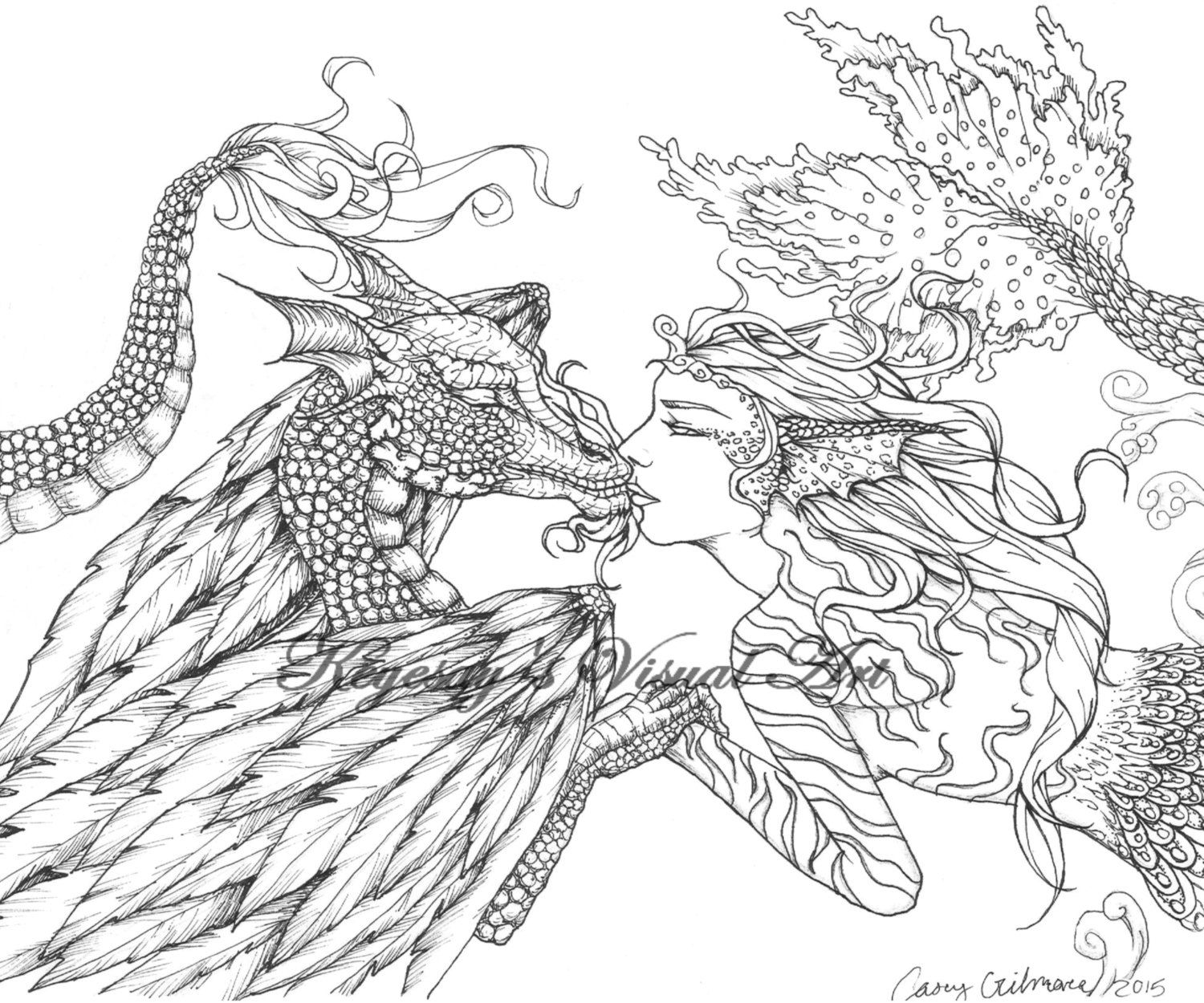 coloring pages of fantasy - photo#27