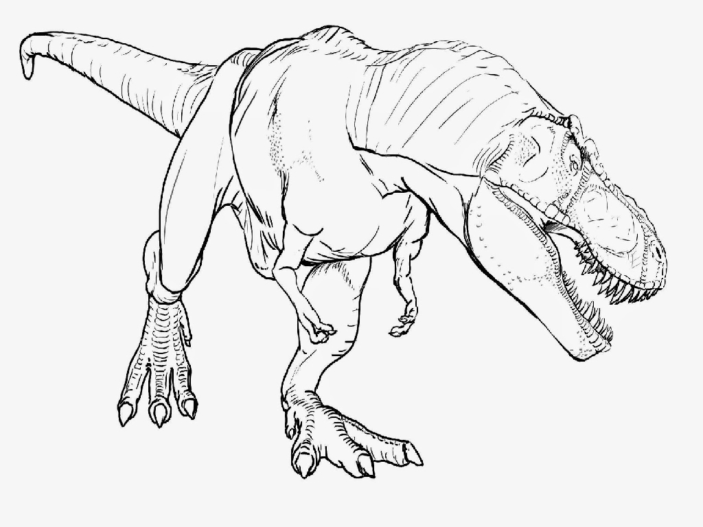 Dinosaur Pages To Color Online