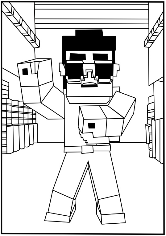 easter minecraft coloring pages - photo #1