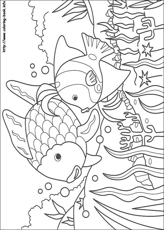 Rainbow Fish Coloring Page Coloring Home