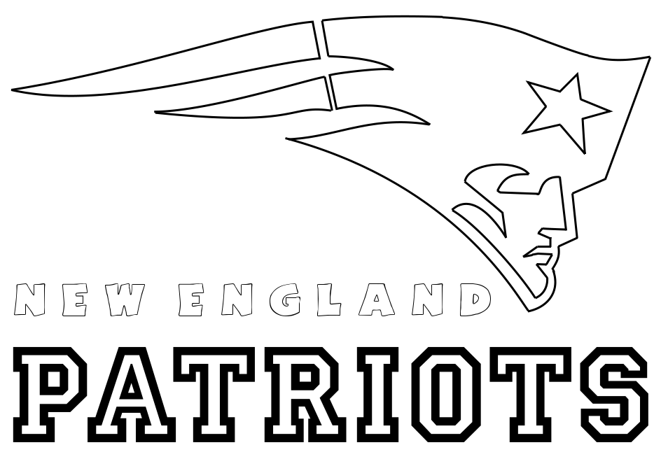 Coloring Pages Football Patriots