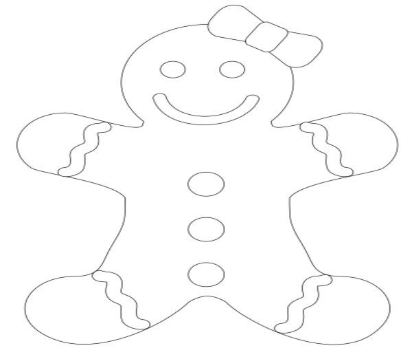 Gingerbread Boy And Girl Coloring Pages - Coloring Home
