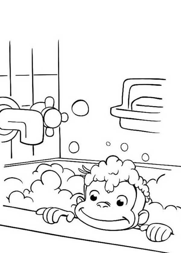 Elephant Bath Coloring Page Coloring Home