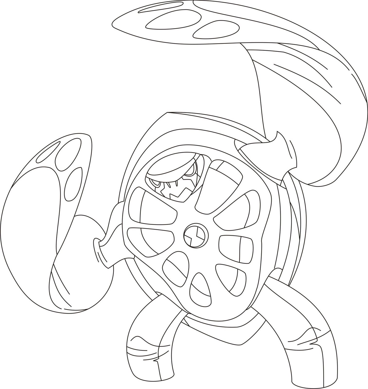 ben 10 alien force coloring pages swampfire az coloring pages Ben 10 Ghostfreak Coloring Pages  Ben 10 Swampfire Coloring Pages