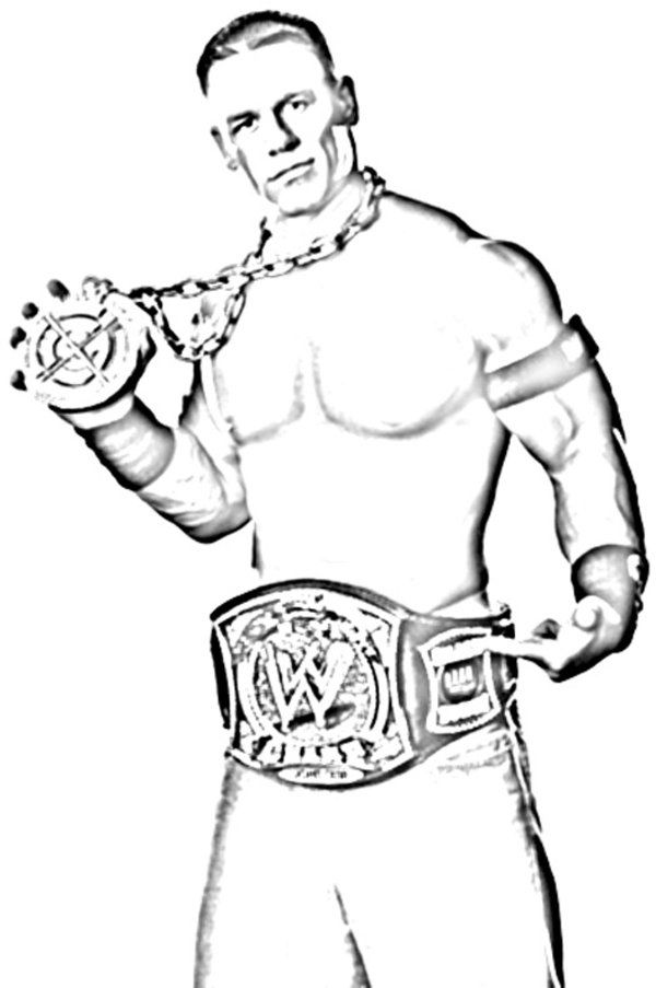 11 Pics of Free Printable WWE Coloring Pages - WWE Wrestling ...