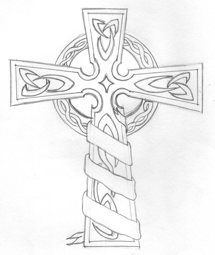 Coloring pages for adults crosses - 14 Pics Of Celtic Cross Coloring Pages Free Printable Celtic
