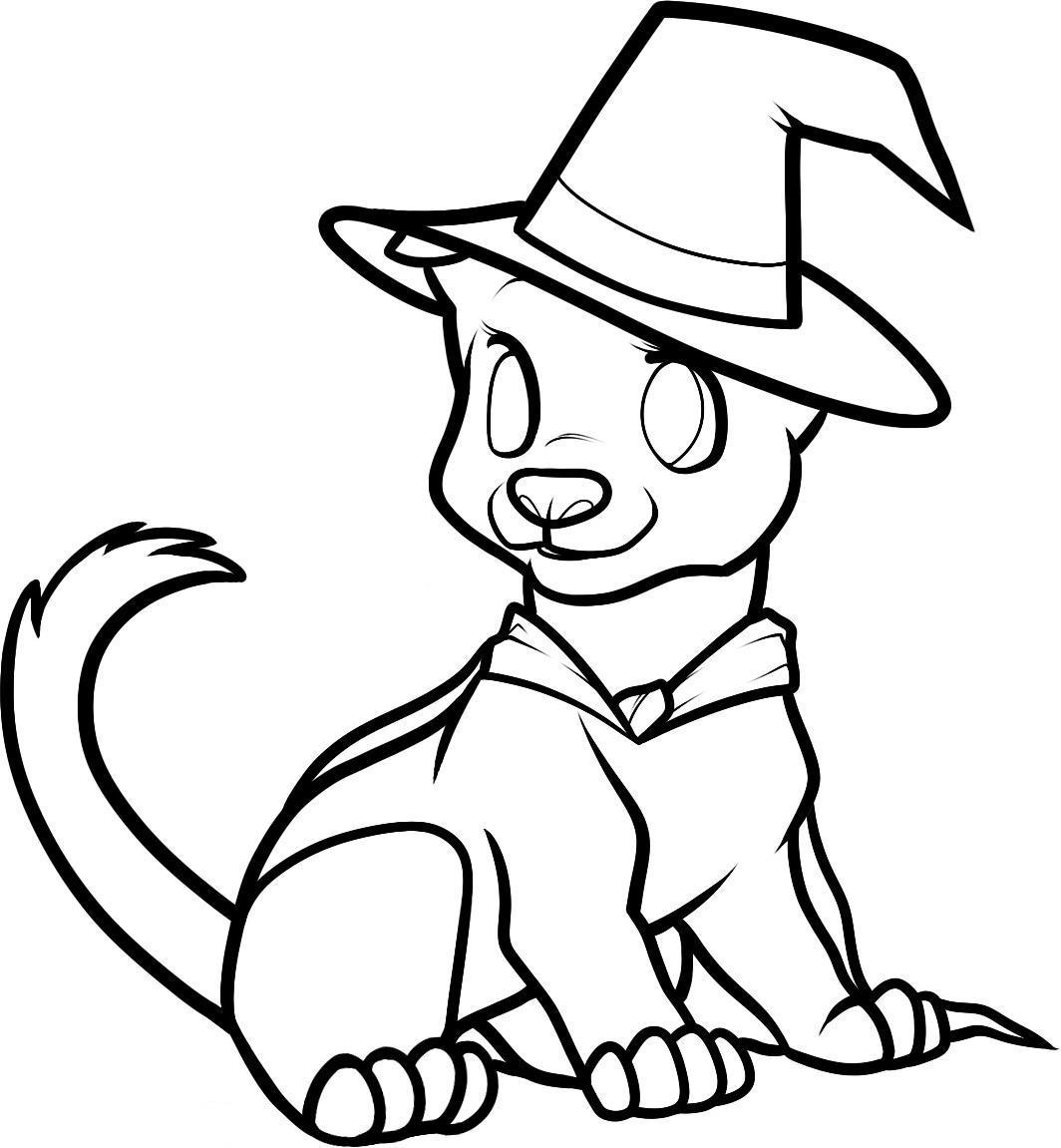 Cute halloween coloring pages to print coloring home for Cute halloween coloring pages free