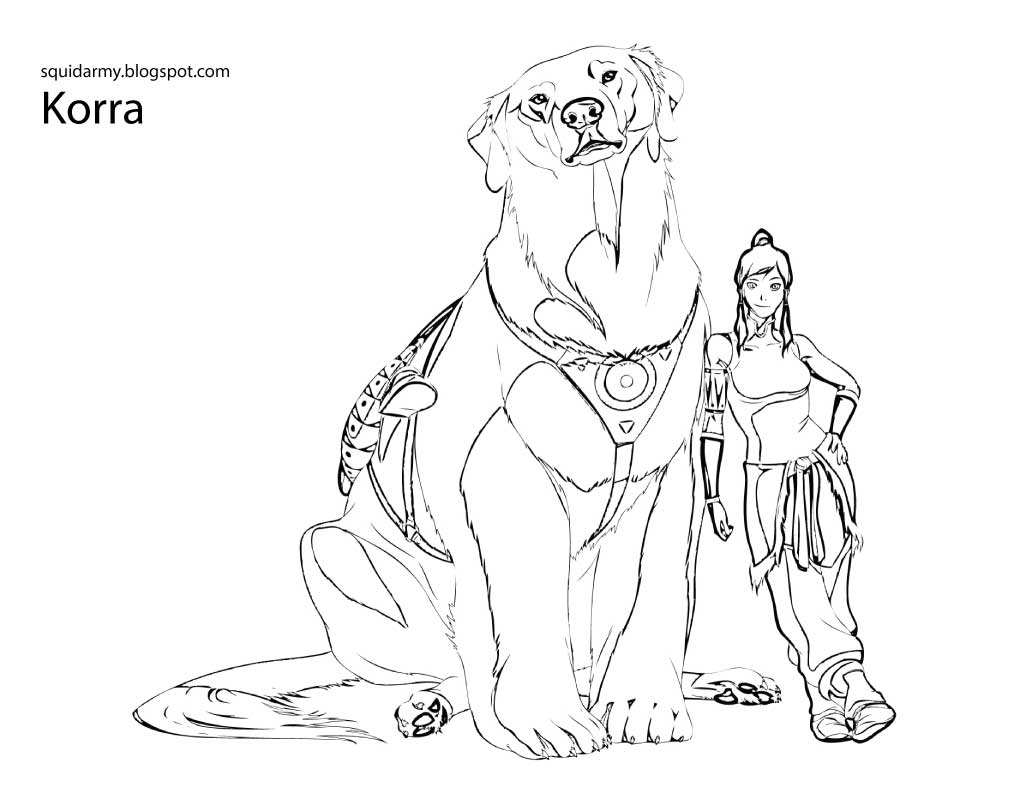 avatar legend of korra coloring pages coloring home