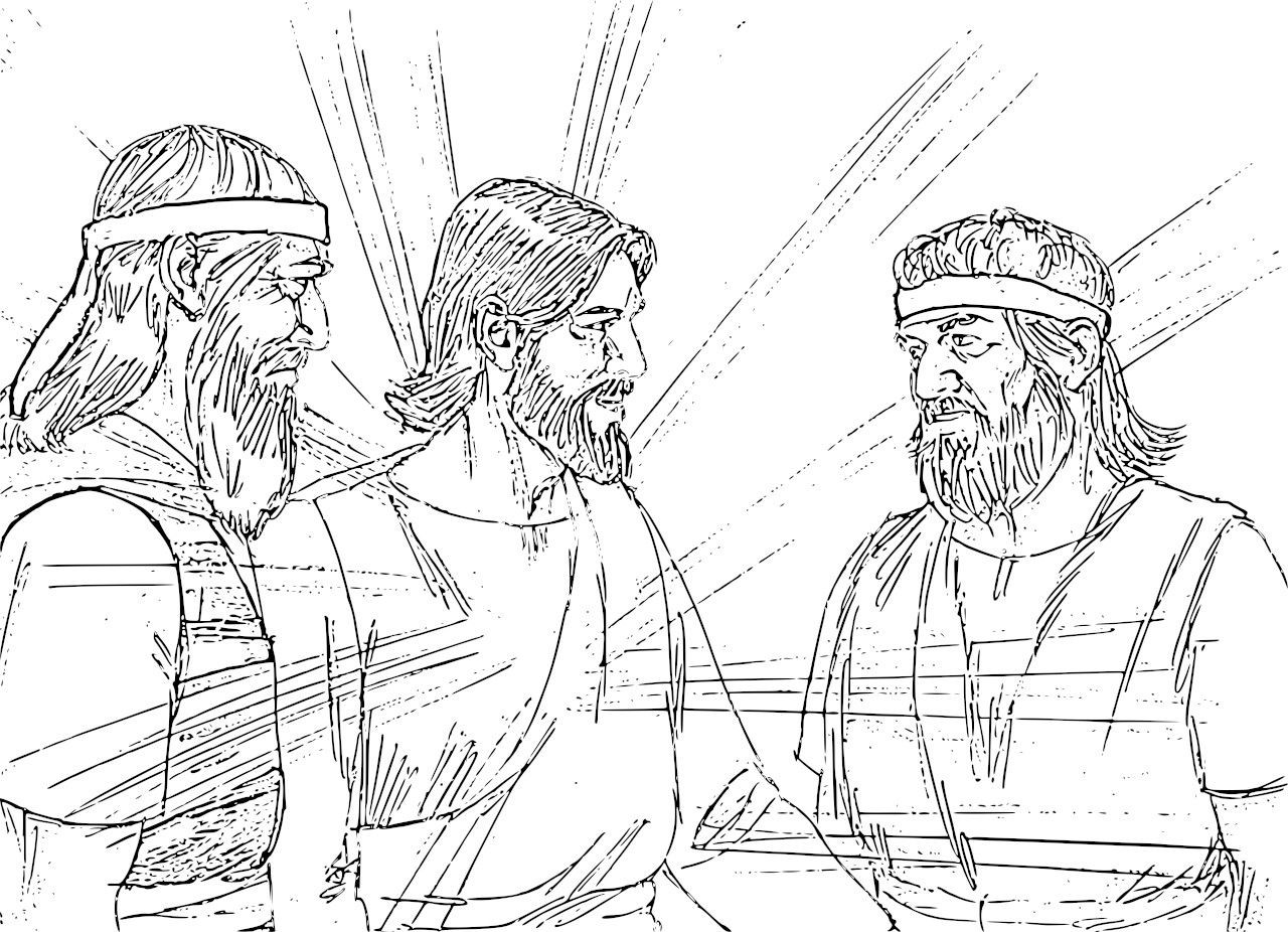 jesuss transfiguration coloring pages - photo#14